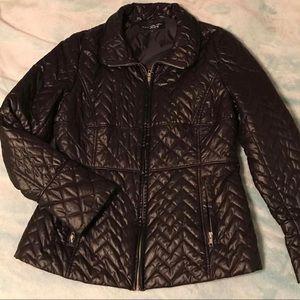 Black rivet bubble jacket